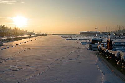 Såna islagt vinteren 2010