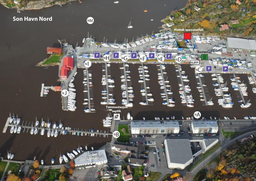 Bryggeoversikt/flyfoto Son Havn Nord 2010