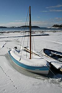 Vinterbilde Son havn 2009