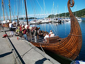 Foto Vikingskip ved Dampskipskaia i Son 2010
